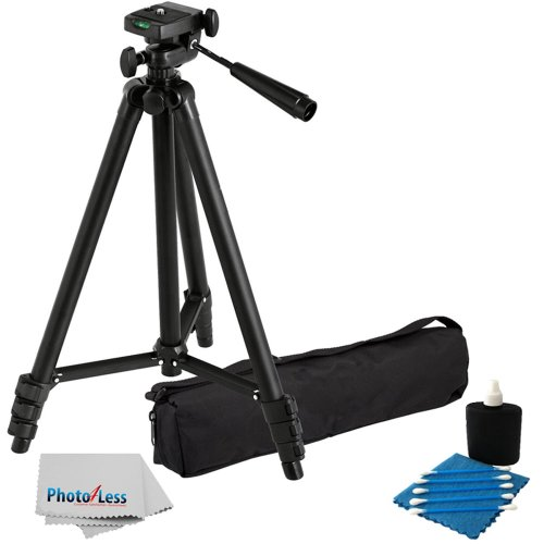 Professional 60-inch Lightweight Tripod for All Digital SLR Cameras and Camcorder Canon Sony, Nikon, Samsung, Panasonic, Olympus with Quick Release Mount + Carrying Case + Camera Lens Cleaning Kit