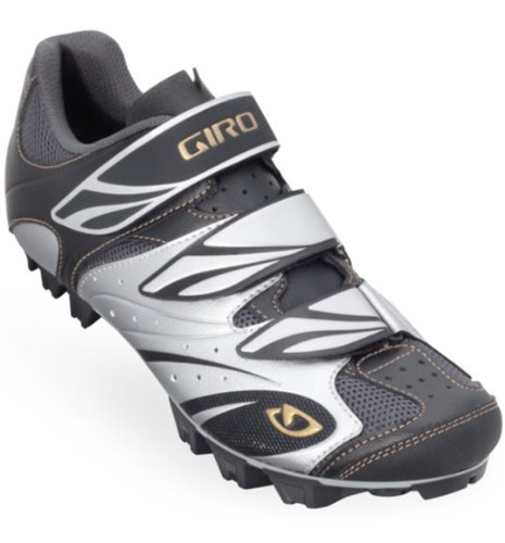 Giro 2013 Women's Riela Mountain Cycling Shoes (Black/Silver/Gold - 37.5)