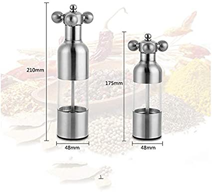Liveday Manual Pepper Mill Stainless Steel Salt and Pepper Grinder Faucet Valve Shape Durable Kitchen Tool Easy to Clean