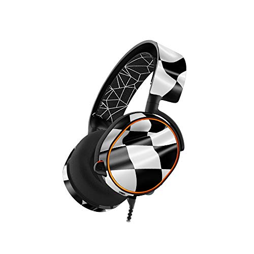 MightySkins Skin Compatible with SteelSeries Arctis 5 Gaming Headset - Race Flag | Protective, Durable, and Unique Vinyl Decal wrap Cover | Easy to Apply, Remove, and Change Styles | Made in The USA