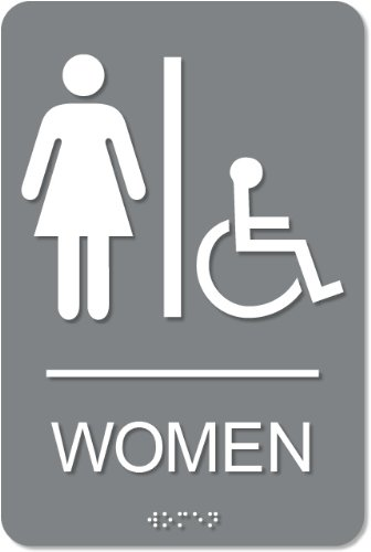 Women's Accessible Restroom Sign - ADA compliant sign. 6