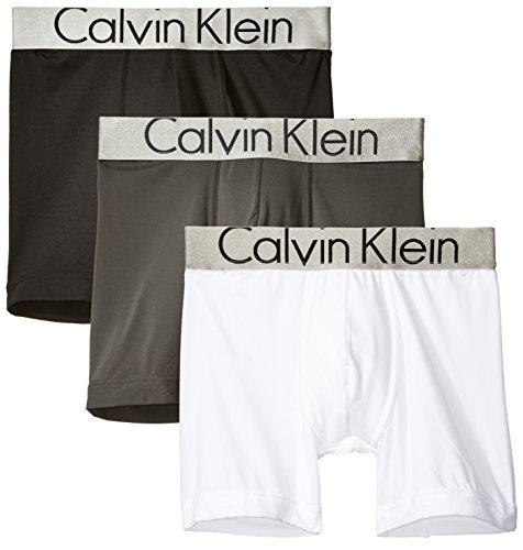Calvin Klein Steel Boxers - Calvin Klein Men's Underwear Steel Micro Boxer Briefs, Mink/White/Black, X-Large
