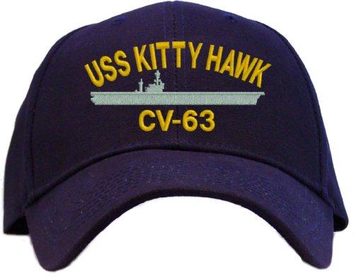 USS Kitty Hawk CV-63 Embroidered Baseball Cap - Navy