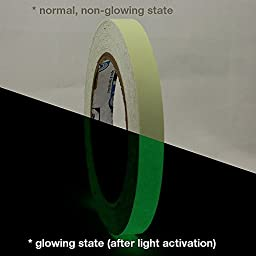 Pro Tapes Pro-Glow Glow in the Dark Tape (10 Hour): 1/2 in. x 30 ft. (Luminescent Lime Green)
