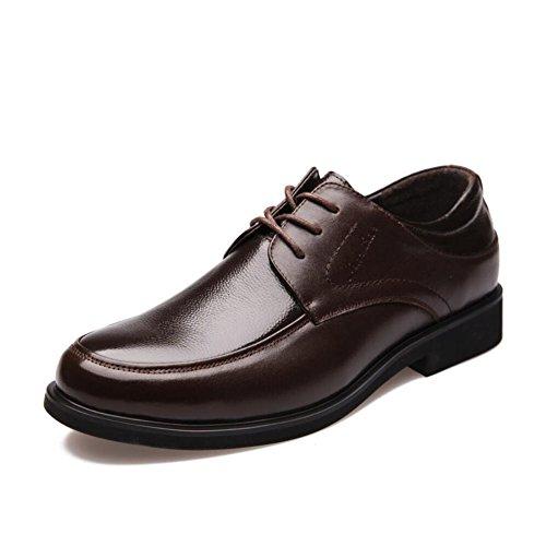 CAI Formale Schuhe der Männer 2018 Neue Kleid Schuhe/Lederne Schuhe der Männer/Niedrige Spitzenschuhe Männer Beschuht Buumlro Arbeits Schuhe/Tägliche gehende Schuhe (Farbe : Braun  Größe : 43) Braun