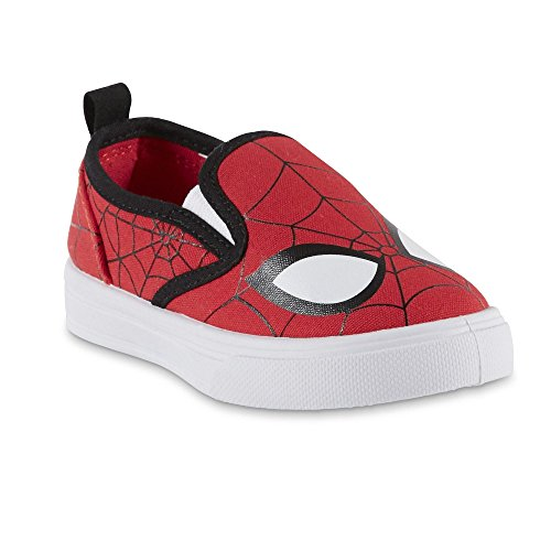 BBC International Marvel Toddler Boys' Spider-Man Red/Black Slip-On Sneaker (10 M US Toddler) -