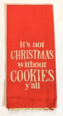 Heart of America Christmas Without Cookies Tea Towel