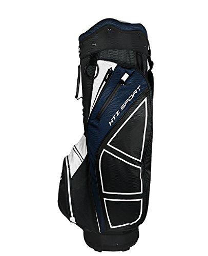 Hot-Z Golf Sport Cart Bag, Black/Navy/White by Hot-Z Golf