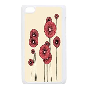 HEHEDE Phone Case Of Painting Flower For Ipod Touch 4