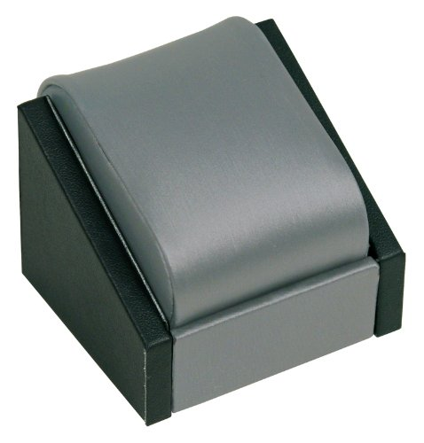 Single Watch Stand - Caddy Bay Collection Two Tone Single Watch Display Case Stand, Gun Metal