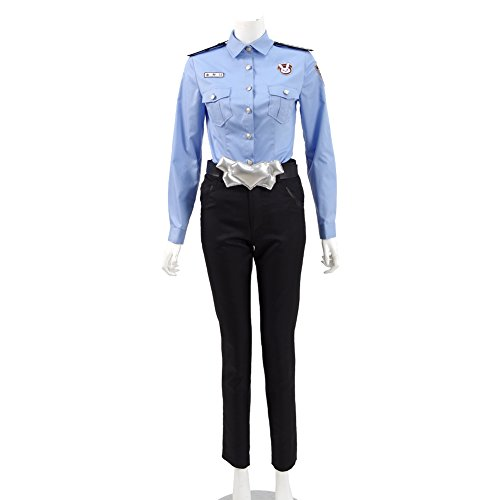 Police Woman Costume For Sale (Xiao Maomi Womens Officer Cosplay Costume Hot Sale Uniform Policewoman Suits Full Set (M(With Hat), Blue))