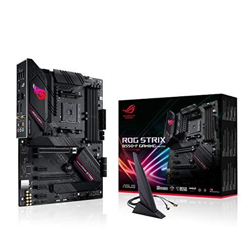 ASUS ROG STRIX B550-F GAMING (WI-FI), AMD B550 ATX Gaming-moederbord met PCIe 4.0, teamfasen, 2,5 GB LAN, WiFi 6 (802…