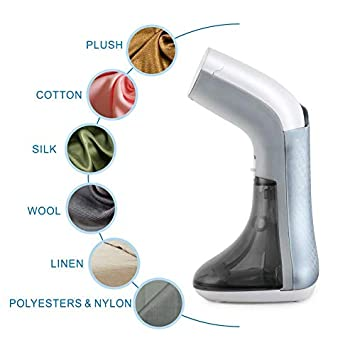 CUSIMAX Clothes Steamer, Portable Handheld Garment Steamer, 360 No Spitting, Powerful Clothes Wrinkle Remover with Fabric Brush, Clean and Sterilize, Auto Shut Off, Perfect for Home Silver