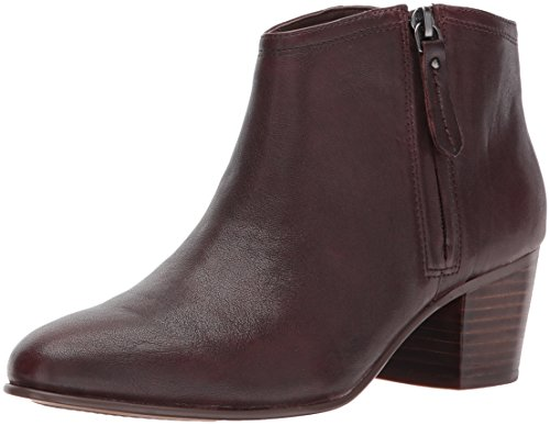 Ankle Height Leather Boots (Clarks Women's Maypearl Alice Ankle Bootie, Mahogany Nubuck, 8 M US)
