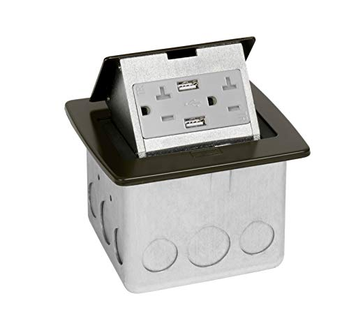 - Lew Electric Countertop Box (2 Outlet | 2 USB, Oil Rubbed Bronze)