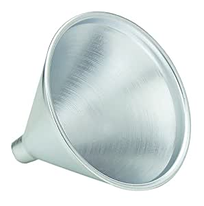 HIC Aluminum Funnel for Liquids and Dry Goods, 8-Ounces