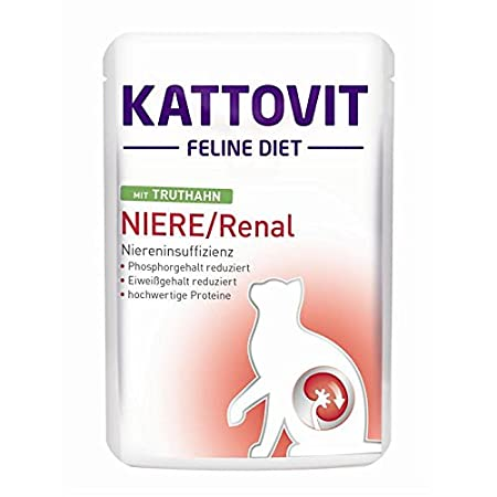 Kattovit | Feline Diets Niere/Renal mit Truthahn | 24 x 85 g