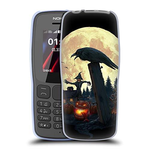 Official Christos Karapanos Halloween Theme Horror 2 Soft Gel Case for Nokia 106 -