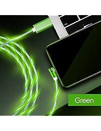 Cable de carga magnético para teléfono, 3 en 1 (2 unidades, 4.9 ft), color azul y verde