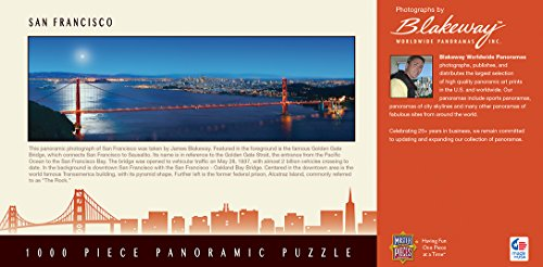 MasterPieces Cityscape Panoramics 1000 Puzzles Collection - San Francisco Panoramic 1000 Piece Jigsaw Puzzle