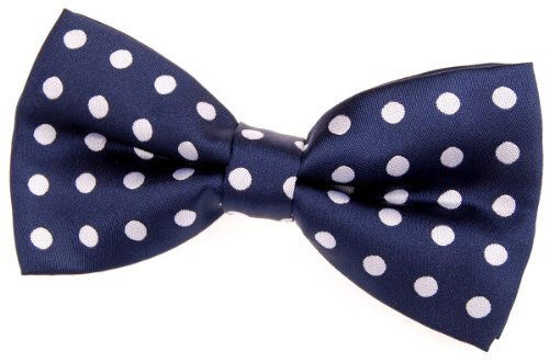 Retreez Classic Polka Dots Woven Microfiber Pre-tied Bow