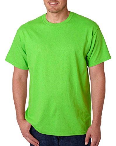 Gildan Heavy Cotton Adult T-Shirt, Neon Green, XXX-Large (Neon T-shirt Adult)