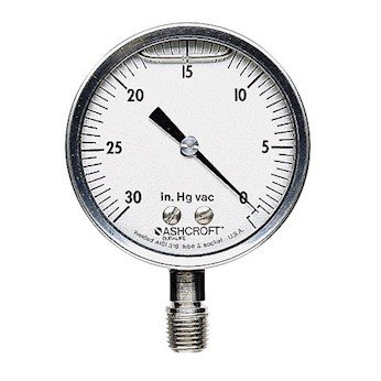 Ashcroft 1009SWL2.5 0 to 200 psi Filled High-Accuracy Gauge 2 1/2