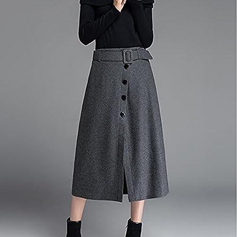 kekafu Mujer Faldas Midi Dailywear,Street Chic Falda y Vestido de ...