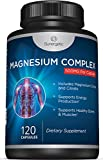 Cheap Premium Magnesium Citrate Capsules – Powerful 500mg Magnesium Oxide & Citrate Supplement – Helps Support Healthy Bones, Muscles, Teeth, Energy & Relaxation – 120 Vegetable Capsules