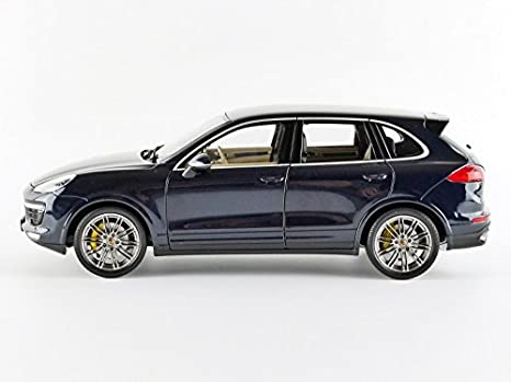 Amazon.com: Porsche 2014 Cayenne Turbo S Blue Metallic Limited Edition to 504pcs 1/18 by Minichamps 110064001: Toys & Games