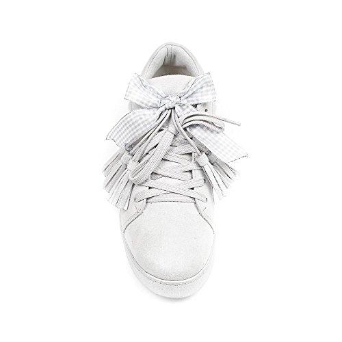 Ideal Shoes, Damen Sneaker Grau