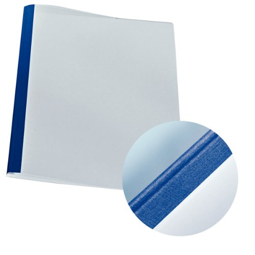 LEITZ Thermobindemappe Leinenoptik, DIN A4, 1,5 mm, blau Esselte Leitz 177118