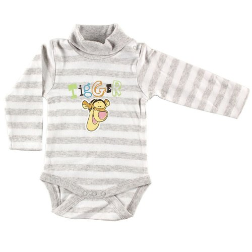 Organic Long Sleeve Hanging Tigger Bodysuit, 18 Months (Baby Tigger)