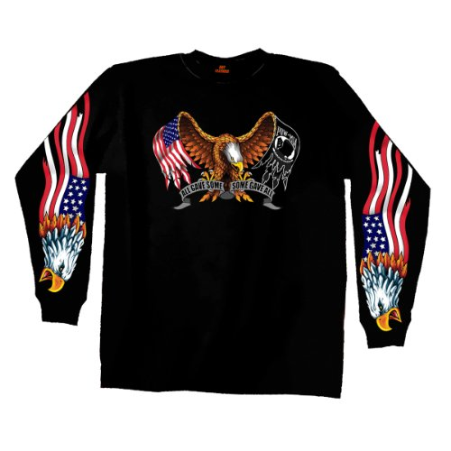 Hot Leathers Some Gave All Long Sleeve T-Shirt (Black, XX-Large)