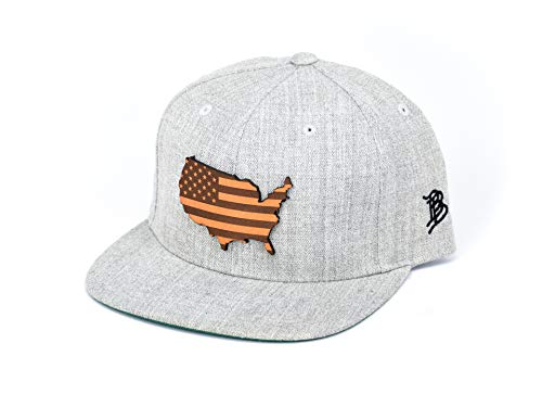 Branded Bills 'The Patriot' Leather Patch Classic Snapback Hat - One Size Fits All