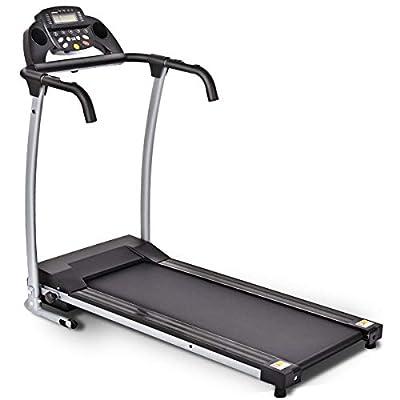 MD Group 800 W Folding Fitness Treadmill Running Machine, Black