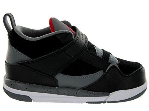 Jordan Nike Toddlers Flight 45 BT Black/Gym Red/Cool Grey/White Basketball Shoe 6 Infants US