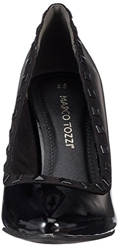 comb Tozzi Pat con Black Marco Nero Scarpe Tacco 22449 Donna O4xvqwCS