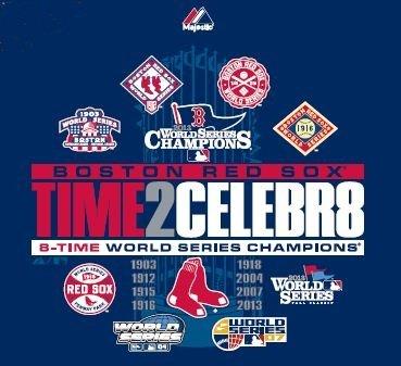 6c5b88e6 Majestic Boston Red Sox 2013 World Series Champions 8X Time2Celebr8 T-Shirt  Small