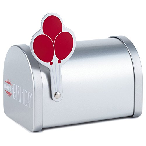 Hallmark Gift Card Holder (Miniature Mailbox With Birthday Balloons) (Box To Measure Balloons)