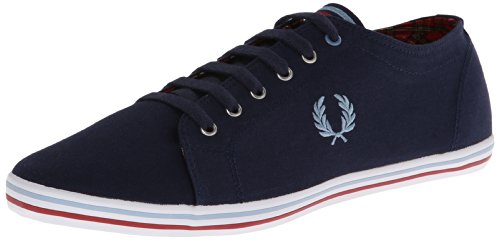 Fred Perry Kingston Twill Tipped Carbon Blue Red Blu