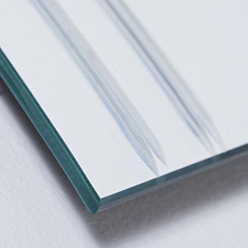 Decor Wonderland Frameless Wave Wall Mirror