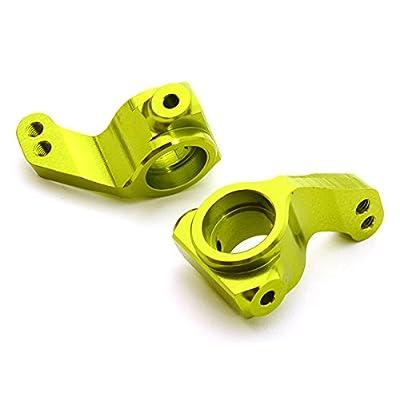Integy RC Model Hop-ups C26739GREEN Billet Machined Steering Knuckles for HPI 1/10 Jumpshot MT, SC & ST