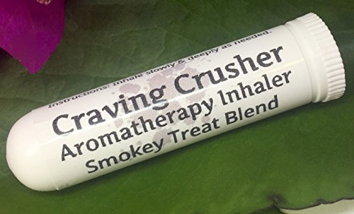 CRAVING CRUSHER ! Aromatherapy Inhaler, Smokey Treat Blend. Quit Aid Stop Smoking Natural Suppressant, Pocket / Purse Stick, Vapor. 100% Natural. Help quit cravings. Drug Free