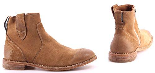 Zapatos Mujer Botines MOMA 43702-FG Softy Tabacco Beige Vintage Handmade Italy