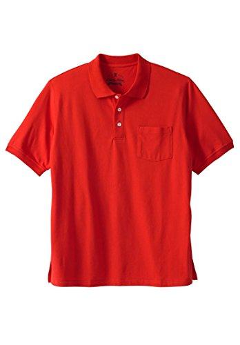 Liberty Blues Men's Big & Tall Pocket Pique Polo Shirt, Brick Red ()