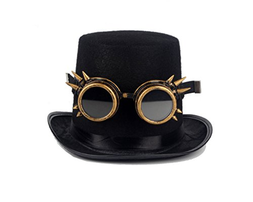 Careonline WELDING CYBER GOGGLES GOTH STEAMPUNK COSPLAY GOTH ANTIQUE VICTORIAN WITH SPIKES