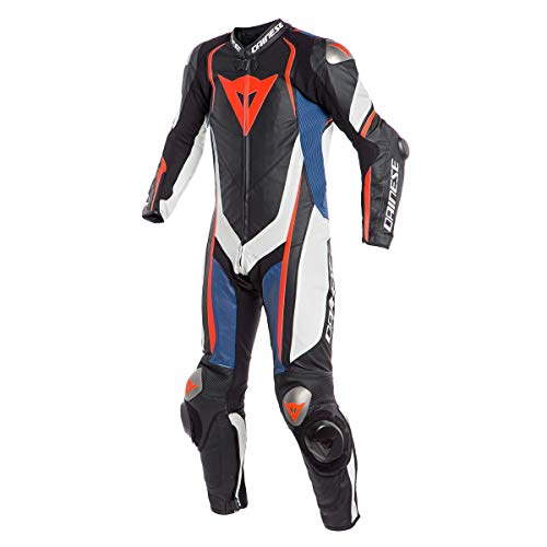 Dainese Kyalami 1 Piece Perforated Leather Race Suit - Black/White/Blue - 54 Eu ()