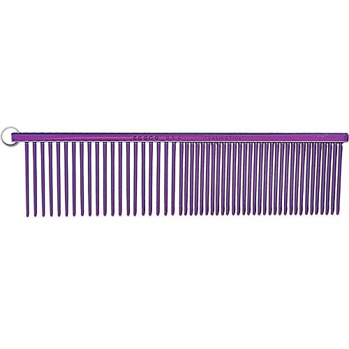 Resco Professional Anti-Static Best Dog, Cat, Pet Grooming Comb, Medium/Coarse Tooth Spacing, 1.5-Inch Pins, Candy Purple