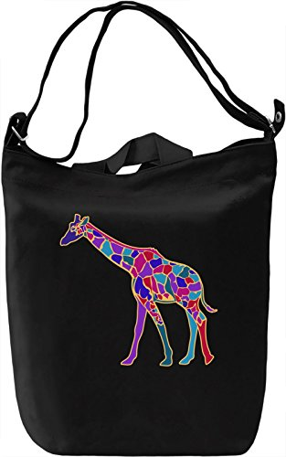 Colourful Giraffe Borsa Giornaliera Canvas Canvas Day Bag| 100% Premium Cotton Canvas| DTG Printing|
